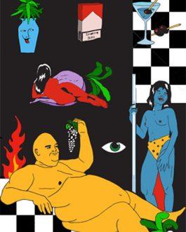 "Karifurava ""Smoking Skills"" Print"